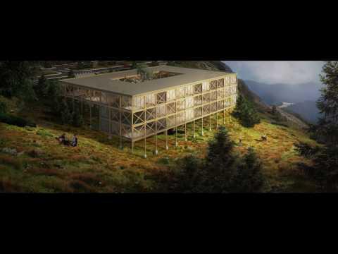 Architecture post production - Mountain scene