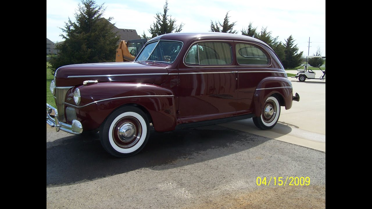 1941 Ford Super Deluxe 2 Door Sedan Youtube Mercury 4