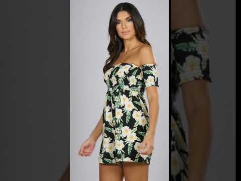 692ae3e7462 Studio - Pack of 2 Floral Shirred Top Playsuits - YouTube