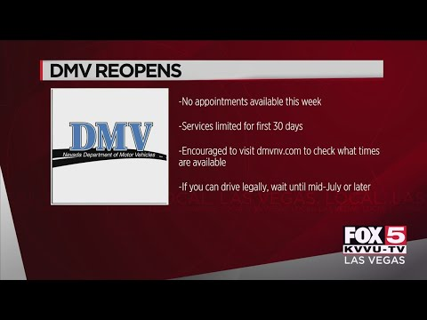 Nevada DMV offices reopen across the Las Vegas Valley