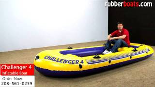 Intex Challenger 4 Inflatable Boat Video Review By Rubber Boats