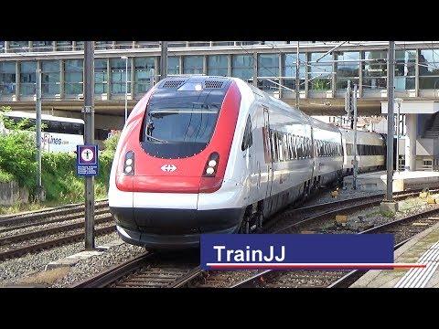 ICN RABDe 500 | ETR610 | Re 4/4 II | Basel SBB | Zug um Zug | Swiss passenger trains at trainstation