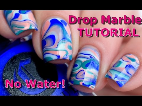 [ Nail Art ] Drop Marble Nails Tutorial - No water // melyne nailart