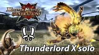 MHGen Lv10 Thunderlord Zinogre solo (Striker Dual Blades) - 4'50