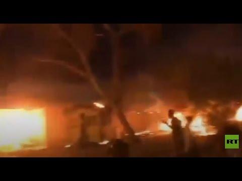 محتجون يحرقون الإطارات أمام القنصلية الإيرانية في كربلاء احتجاجا على مقتل ناشط  - 12:58-2021 / 5 / 10