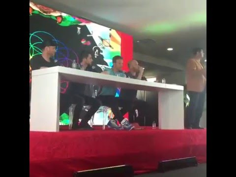 Coldplay Press Conference in Mexico - 4/15/16