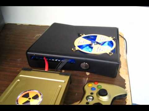 Custom Xbox 360 Slim 120mm Internal Fan Mod Youtube