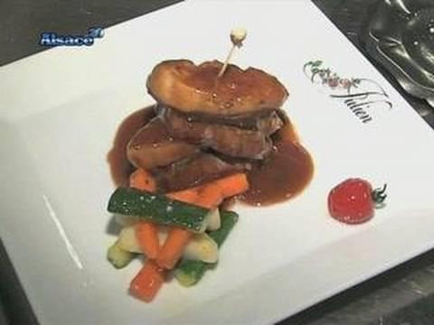 gastronomie millefeuille de boeuf au foie gras youtube. Black Bedroom Furniture Sets. Home Design Ideas