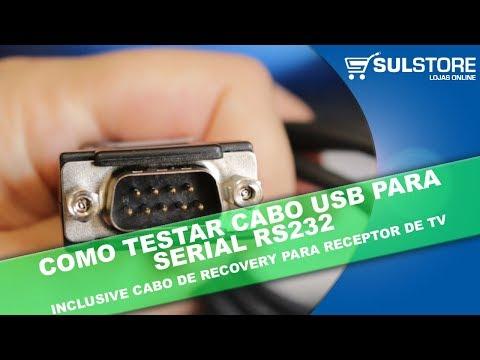 COMO TESTAR CABO USB SERIAL RS232 NO COMPUTADOR OU NOTEBOOK