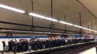 PSG ultras in Madrid highlights