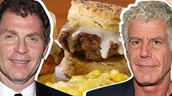 Bobby Flay Vs. Anthony Bourdain: Whose Biscuits & Gravy Is Better?