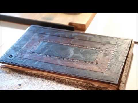 Cambridge panel binding - Georgian trade bookbinding