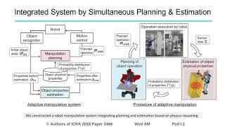 Simultaneous Planning and Estimation Based on Physics Reasoning in Robot Manipulation