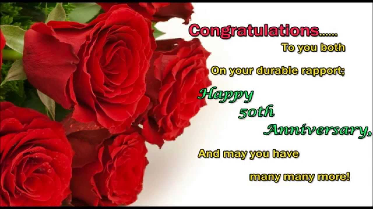 Happy 50th Wedding Anniversary Wishes SMS Text Message Greetings Whatsapp Video