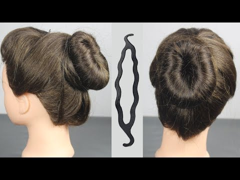 Easy and beautiful JUDA hairstyle using magic hair lock    hair style girls    simple BUN hairstyle