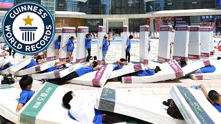 Incredible Mattress Dominoes in 4k - Guinness World Records
