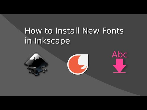 How To Install New Fonts In Inkscape