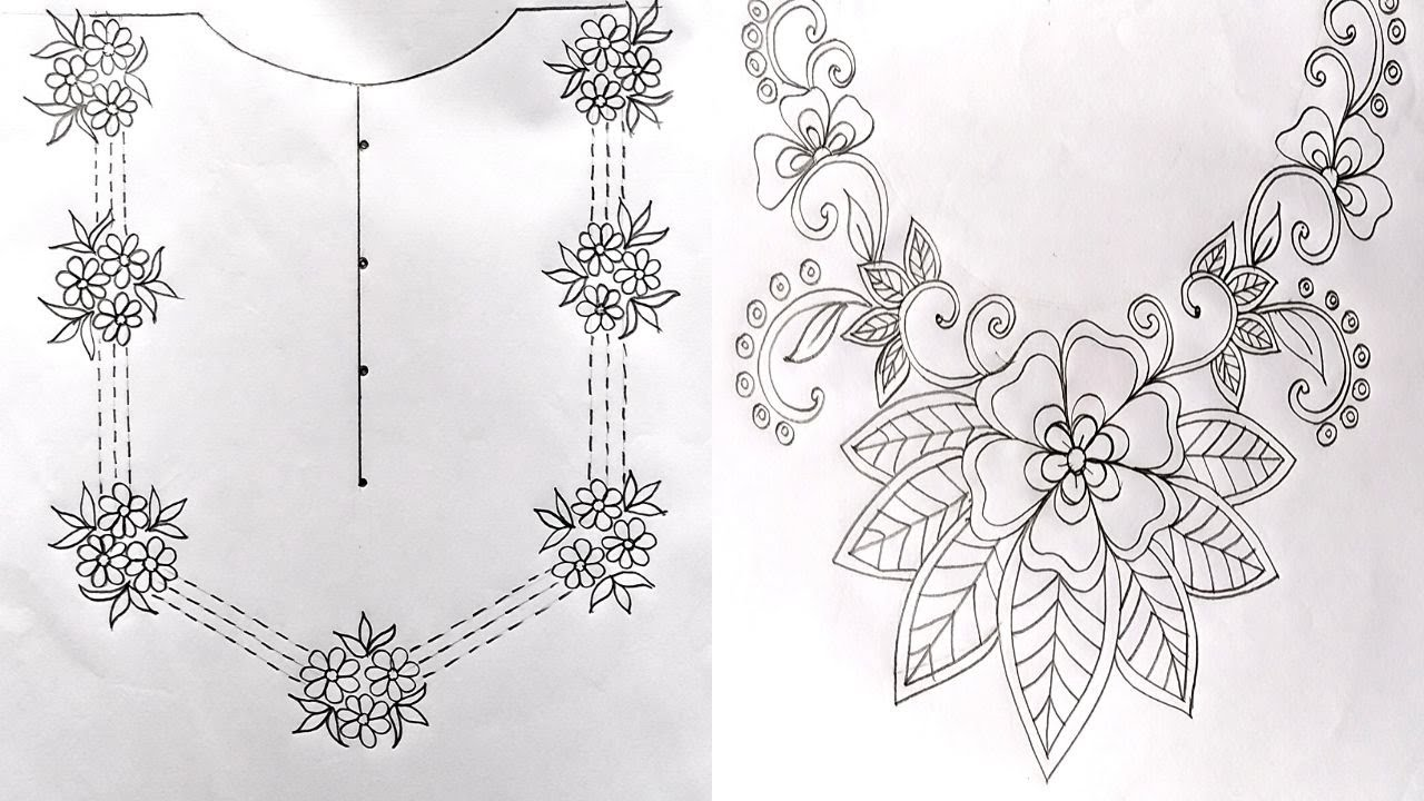 20 Easy Hand Embroidery Pattern,Simple Neck Embroidery Design ...