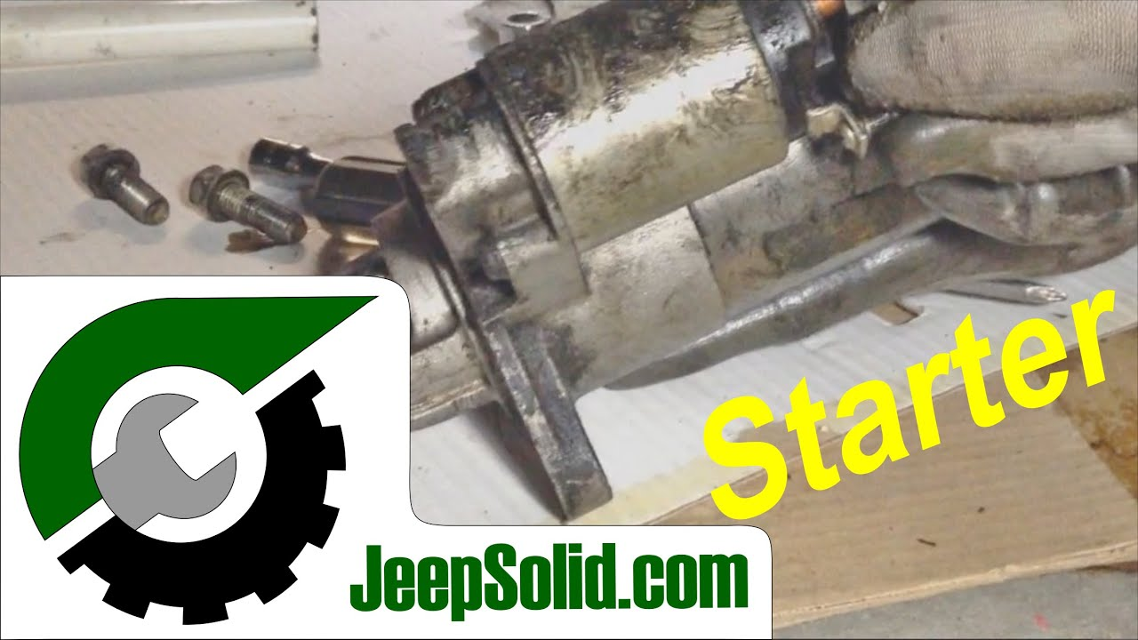 small resolution of how to replace starter jeep cherokee starter installation