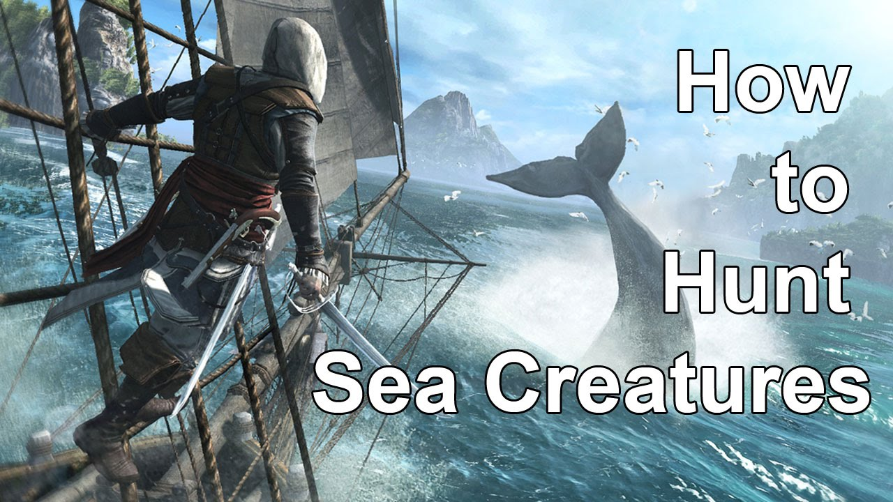 Assassins Creed 4 Black Flag How to Hunt Sea Creatures ep.18