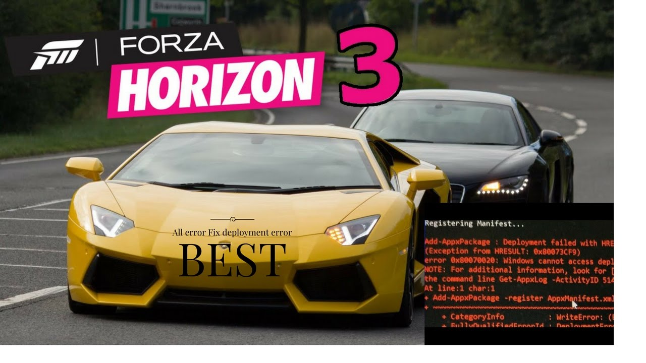 Forza horizon 3 fitgirl registering universal app failed | Error