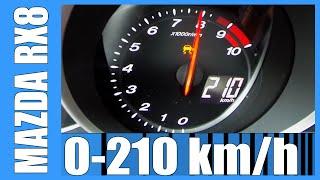Mazda RX8 231 HP NICE! 0-210 km/h Acceleration
