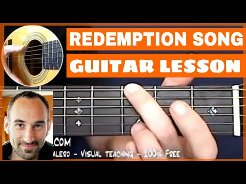 Redemption Song Guitar Lesson - part 1 of 6