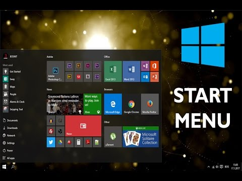 Windows 10 Start Menu - How to Customize Start Menu, Auto Hide Taskbar,  Make Taskbar Transparent