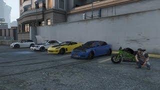 Grand Theft Auto V Online (Xbox 360) | Street Car Meet Pt.3, Garage Tour, Drag Racing, Rain Drifting