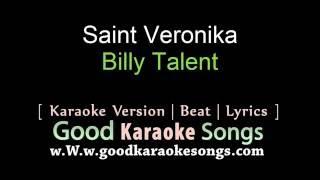 Saint Veronika - Billy Talent (Lyrics Karaoke) [ goodkaraokesongs.com ]
