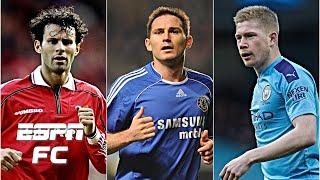 Best Premier League Playmaker Ever: Ryan Giggs, Frank Lampard or Kevin De Bruyne? | ESPN FC