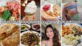 CHEAT DAY EVERYDAY (pt. 2) | What I Eat in a Week (Realistic+Intuitive) | College Campus Life