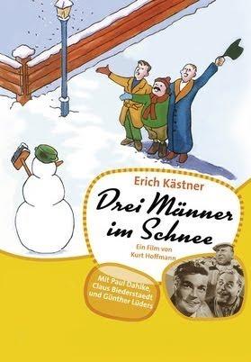 Drei Männer im Schnee -