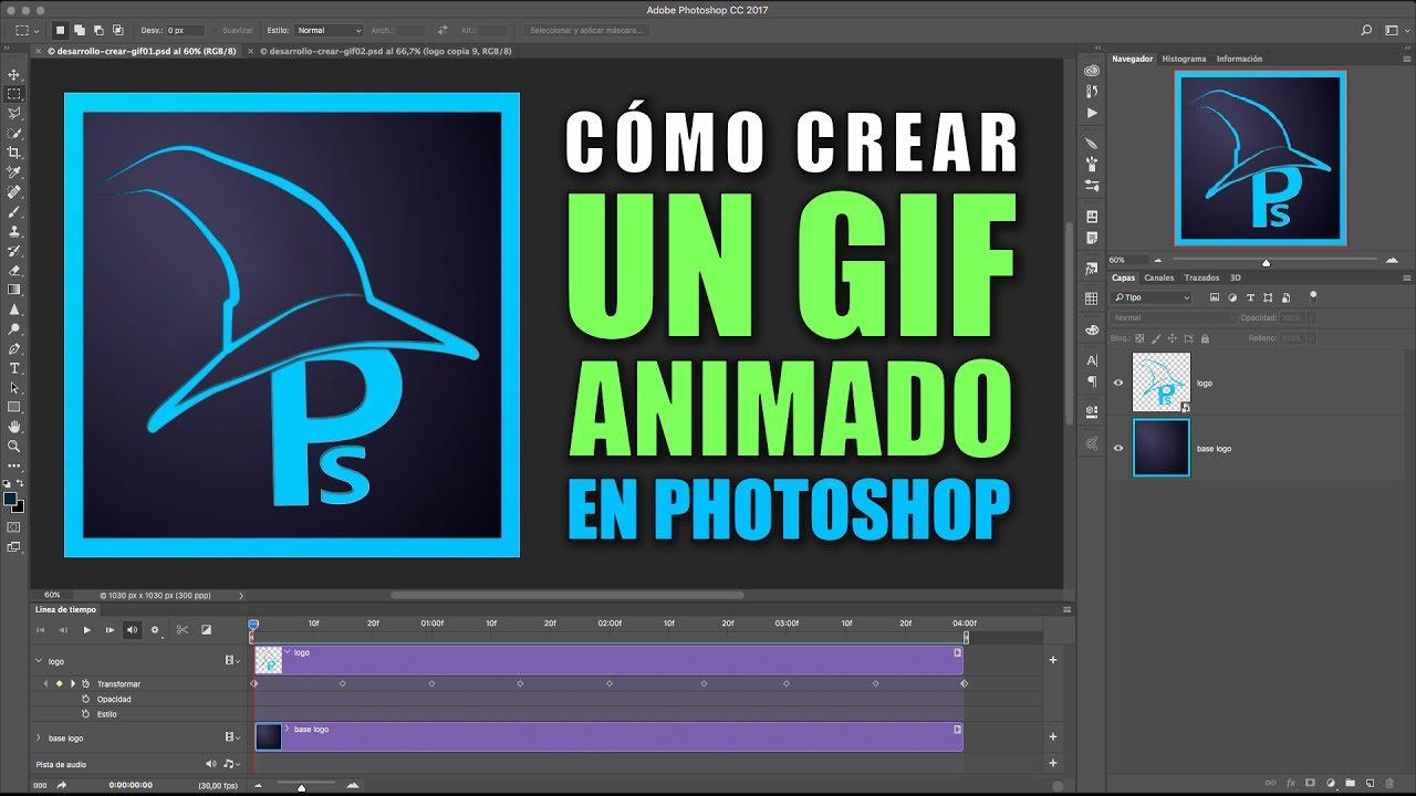 Cómo Crear Un Gif Animado En Photoshop 2 Métodos Youtube