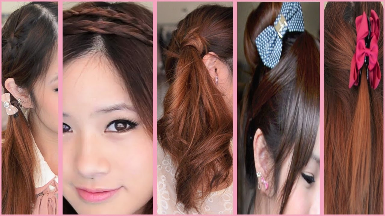 W Hairstyle: 5 Quick And Easy Back To School Hairstyles