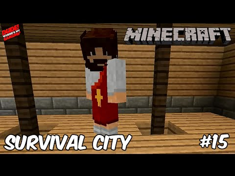 Minecraft Survival City #15 - A New Visitor!    WheresMyGaming