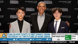 Student Evan Lin Shares His Life Changing Experience Meeting Barack Obama