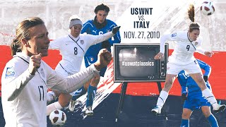 WNT vs Italy: USWNT Classics Replay - November 27, 2010