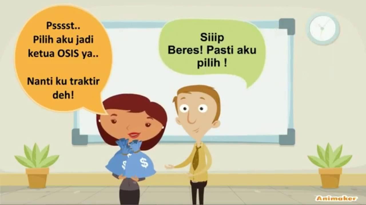 Video Karikatur Teguran Anti Korupsi YouTube