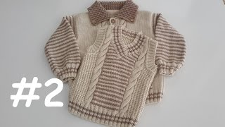 How to Knit - V Neck Boys Sweater (2-4 Years) 2