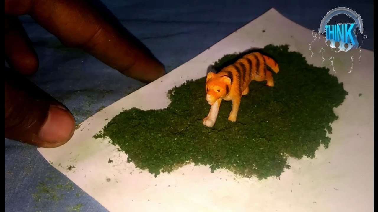how to make grass for model -school project