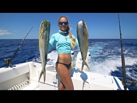Florida Keys Offshore Mahi / Dolphin Fishing GoPro Video