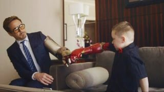 Iron Man, Iron Boy: New Arm Prosthetic From Robert Downey Jr. thumbnail