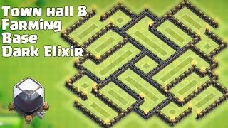 Town hall 8 (TH8) New Dark Elixir Farming Base [Alternate] Nice Looking and Defense!!!