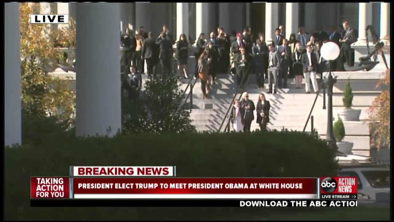LIVESTREAM: President Elect Donald Trump Set To Meet President Obama At White  House   YouTube