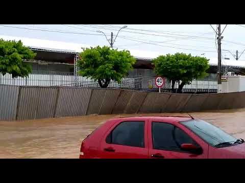 Circuito do carnaval em Barreiras após a forte chuva de hoje