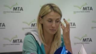 Леся Цуренко, интервью в Международной Теннисной Академии, Киев. 19/11/2016
