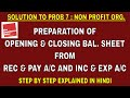 SOLUTION TO PROBLEM 7 ON ACCOUNTING FOR NON PROFIT ORGANISATION