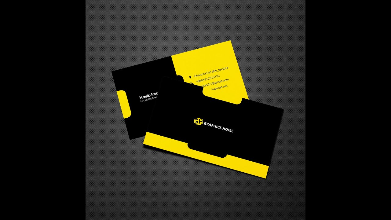 How To Create Corporate Business Card Design In Photoshop ...