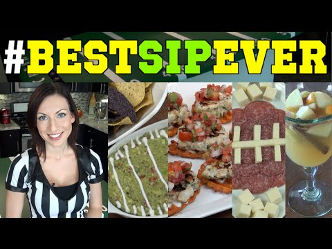 #BestSipEver Football Party Ideas - Game Day Kickoff Recipes